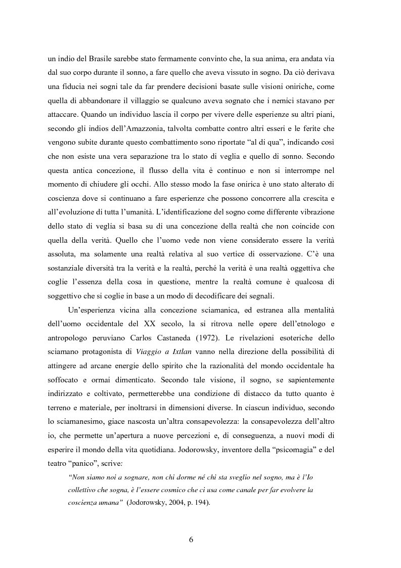 Anteprima della tesi: La Social Dreaming Matrix: un'indagine conoscitiva sulla funzione sociale del sogno, Pagina 6