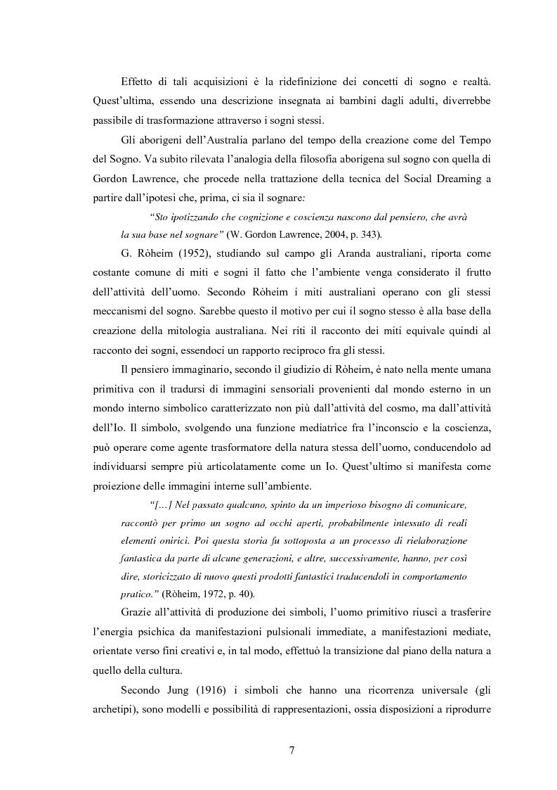 Anteprima della tesi: La Social Dreaming Matrix: un'indagine conoscitiva sulla funzione sociale del sogno, Pagina 7