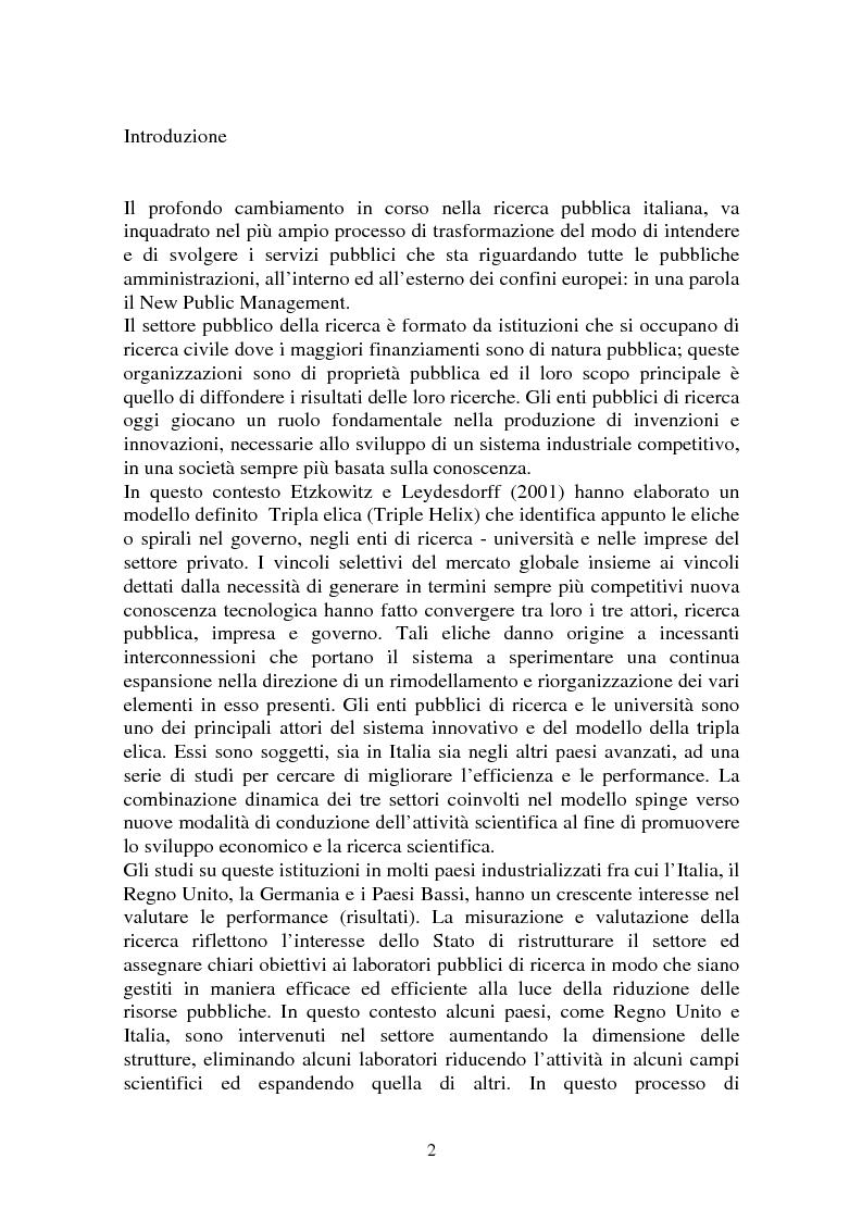 Programmazione e Controllo negli Enti di Ricerca - Tesi di Laurea