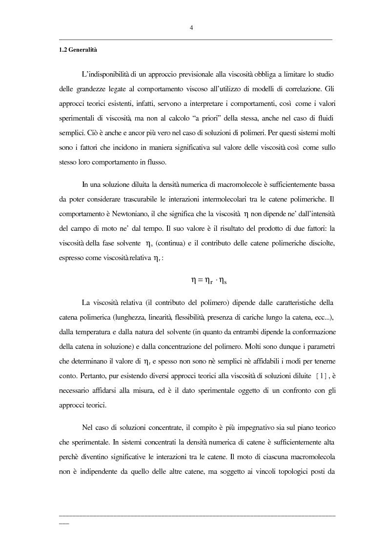 Anteprima della tesi: Viscosità di soluzioni acquose di polimeri: studio sperimentale di sistemi contenenti polietilenglicoli e/o destrani, Pagina 2