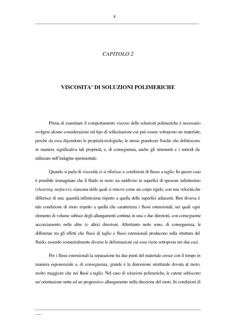Anteprima della tesi: Viscosità di soluzioni acquose di polimeri: studio sperimentale di sistemi contenenti polietilenglicoli e/o destrani, Pagina 6
