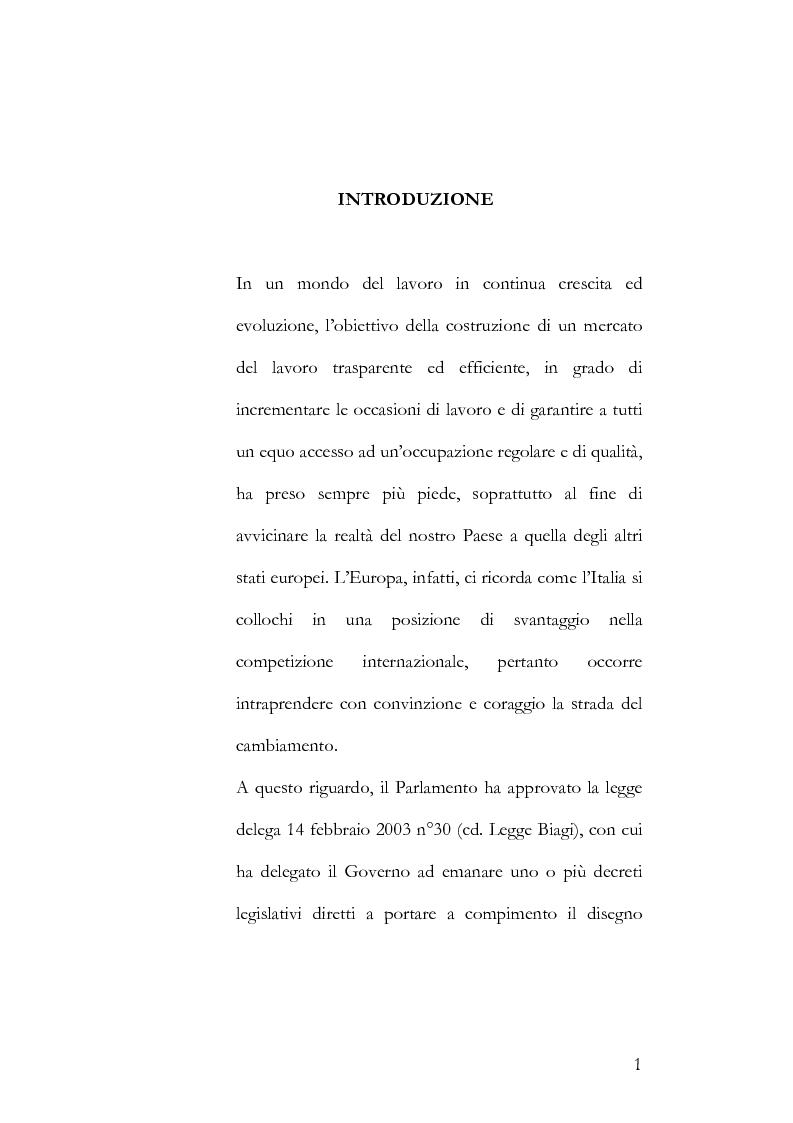 Contratti di formazione e lavoro tra vecchia e nuova disciplina: apprendistato e contratti di inserimento - Tesi di Laur...