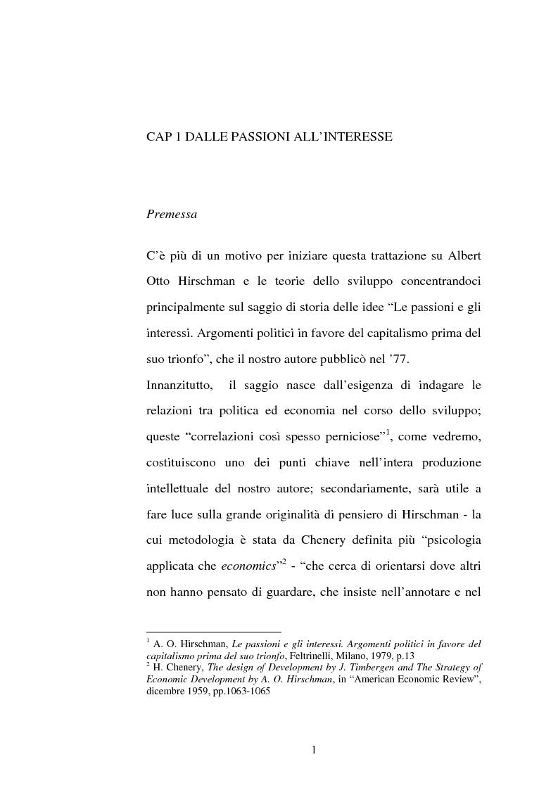 Anteprima della tesi: Albert O. Hirschman e le teorie dello sviluppo, Pagina 5