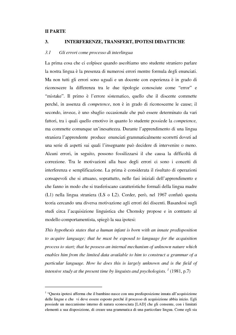 Anteprima della tesi: La correzione degli errori nell'insegnamento dell'italiano ad arabofoni: da uno studio di caso ad una proposta didattica, Pagina 4