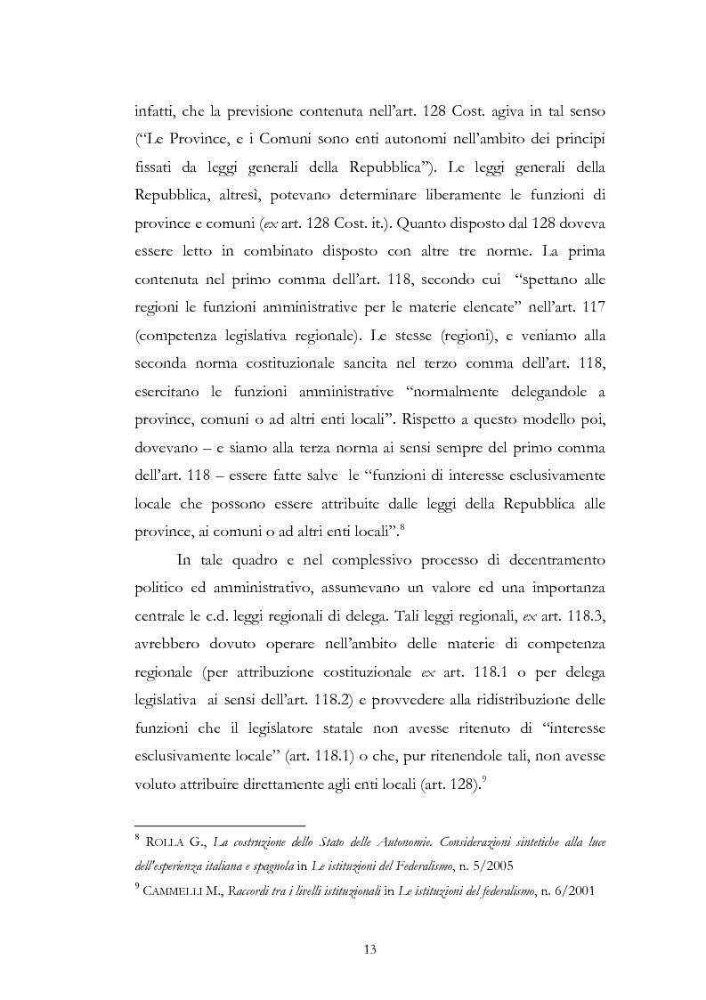 Anteprima della tesi: L'associazionismo comunale tra costituzione, evoluzione legislativa e buone prassi, Pagina 8
