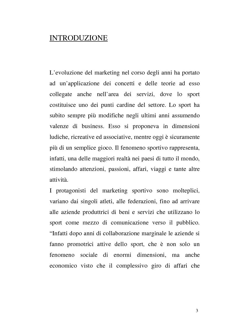 Anteprima della tesi: Il Marketing Sportivo - Caso aziendale: Nike, Pagina 1