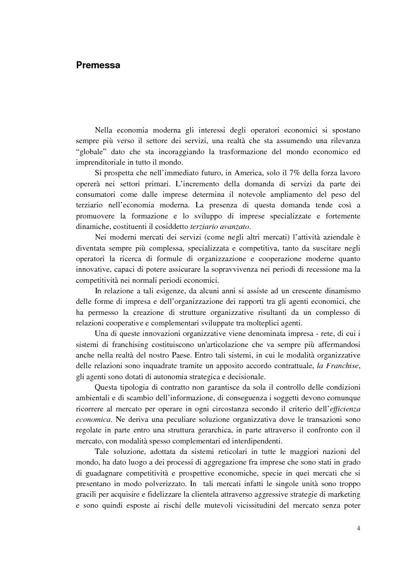 Anteprima della tesi: Specificità ed evoluzione del franchising dei servizi, Pagina 1