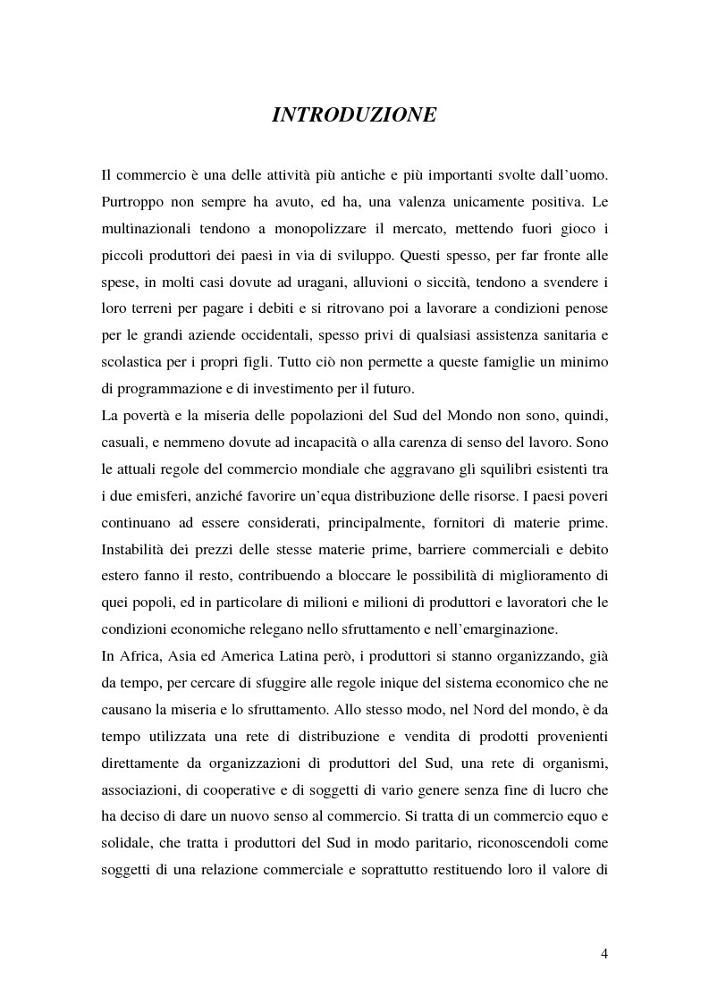 Anteprima della tesi: Le strategie di marketing nel commercio equo-solidale - I casi Esselunga e Coop, Pagina 1