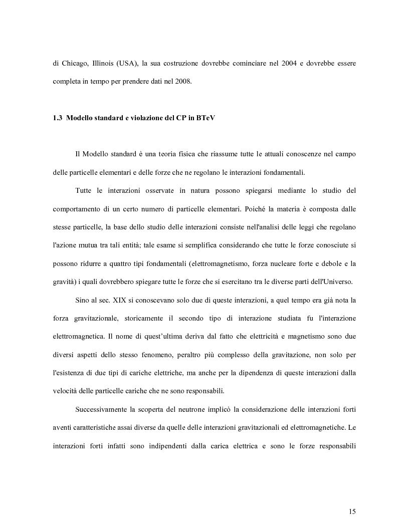Anteprima della tesi: Scelta dei materiali ed analisi strutturale per supporti di rivelatori di particelle dell'esperimento BTeV a FermiLAB (U.S.A.), Pagina 10