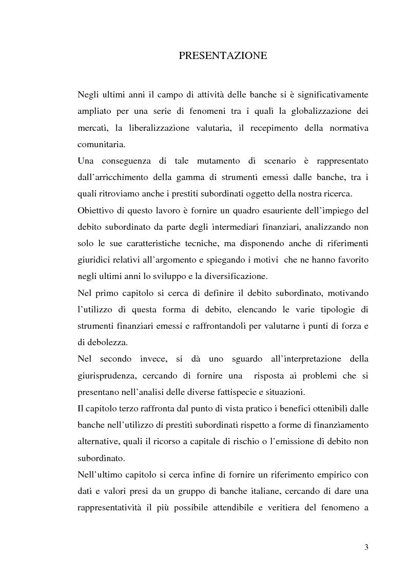 a0382f1416 Il debito subordinato delle banche - Tesi di Laurea - Tesionline