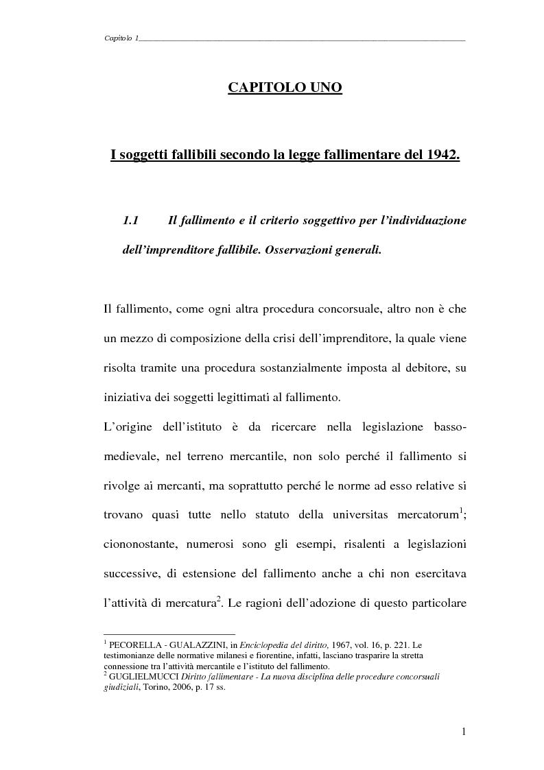 Anteprima della tesi: Piccola società e fallimento, Pagina 1