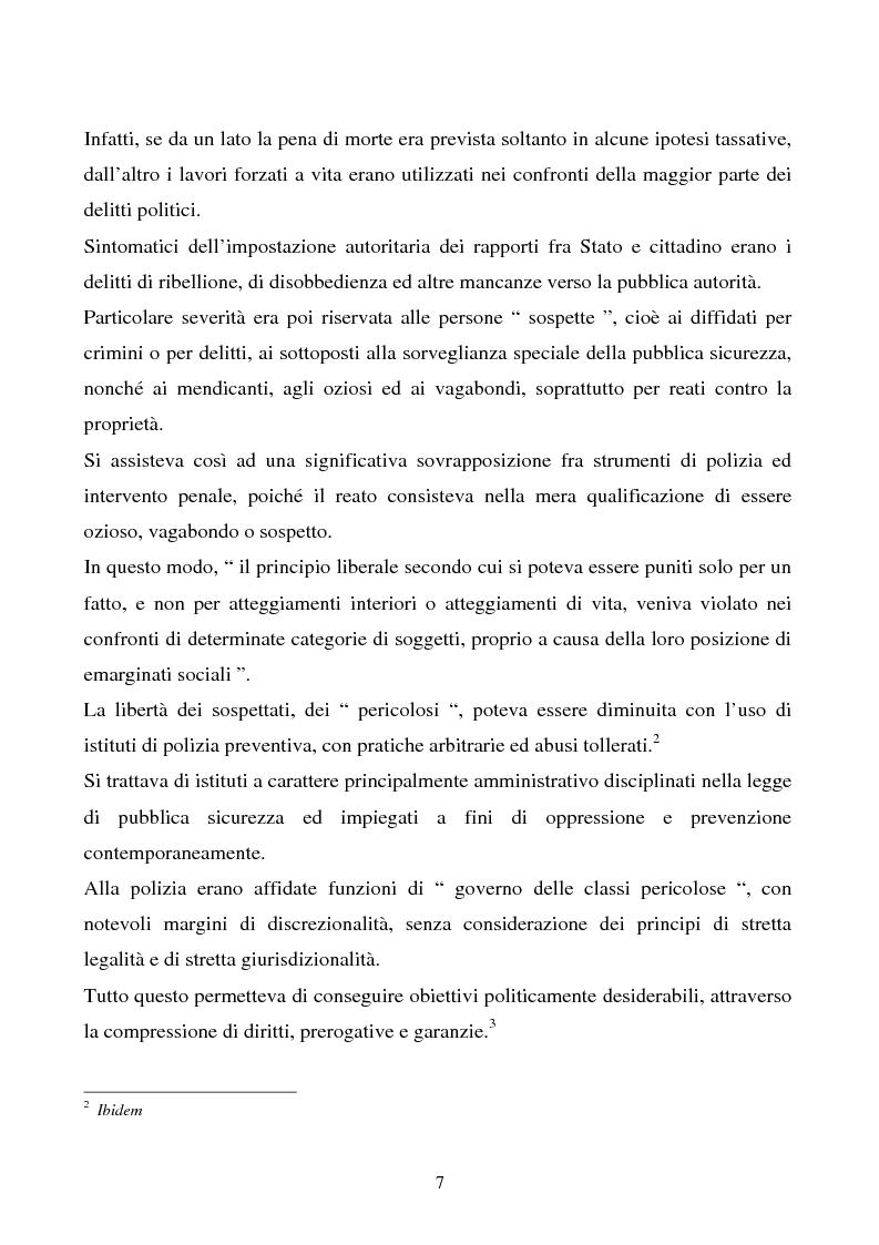 Anteprima della tesi: Misure di sicurezza e doppio binario: dall'equivoco storico del codice liberale al sistema del codice Rocco. Il paradigma dei manicomi ''criminali''., Pagina 2