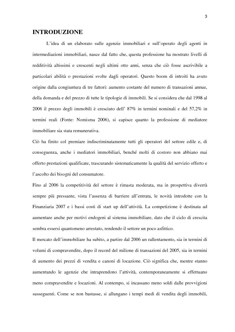 Anteprima della tesi: L'agenzia immobiliare del futuro: da luogo di mediazione a polo aggregativo di funzioni e servizi, Pagina 1