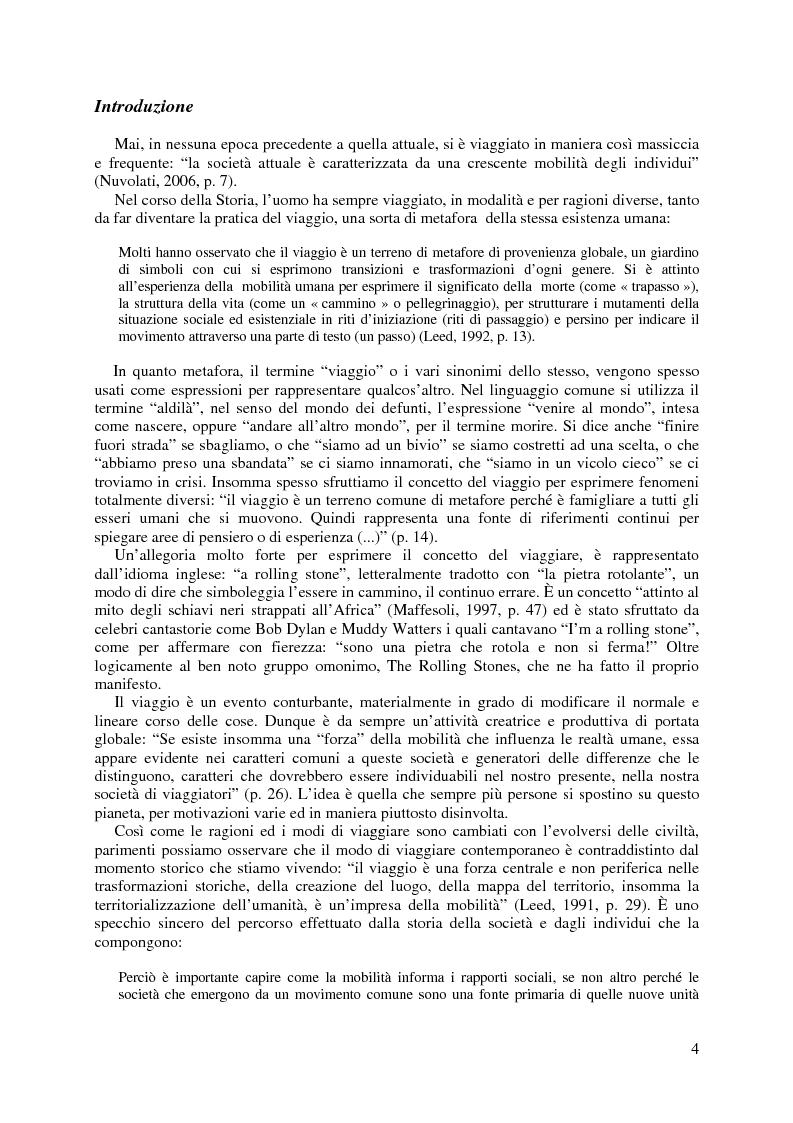 Anteprima della tesi: Il Neo-Nomadismo nell'era globale: i viaggiatori del XXI secolo, Pagina 1