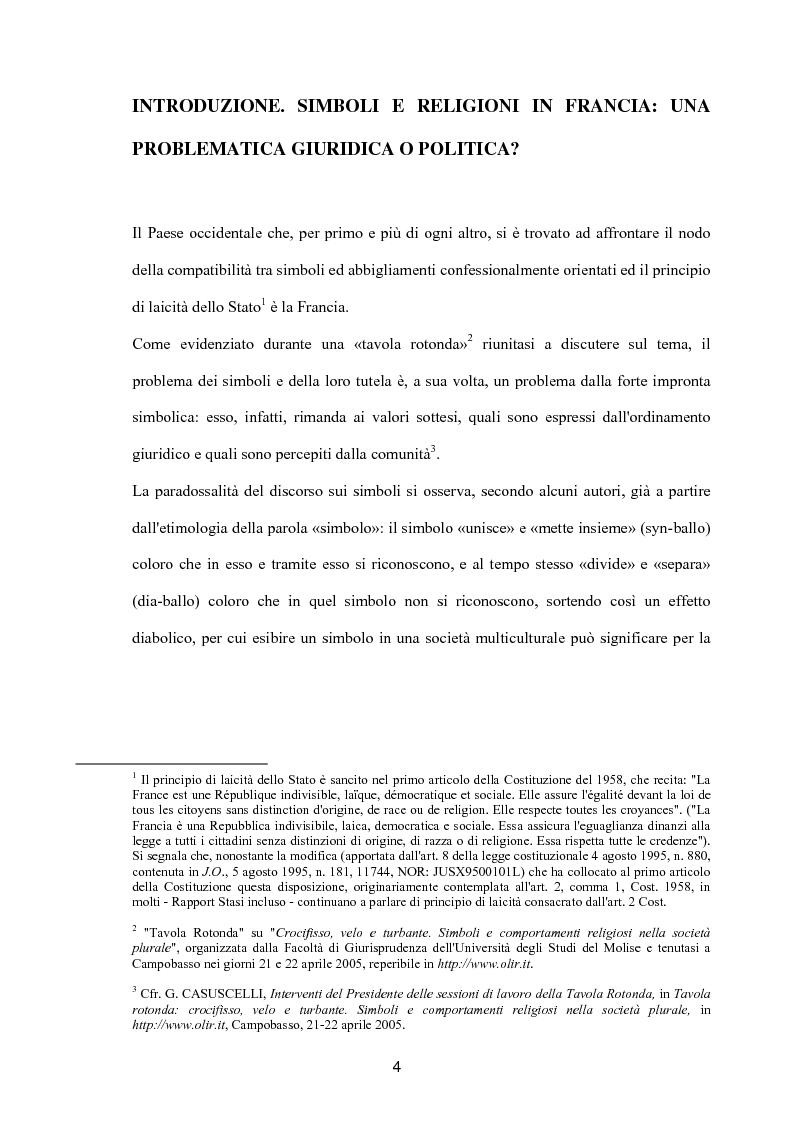 Anteprima della tesi: Simboli e religioni: l'esperienza francese, Pagina 1