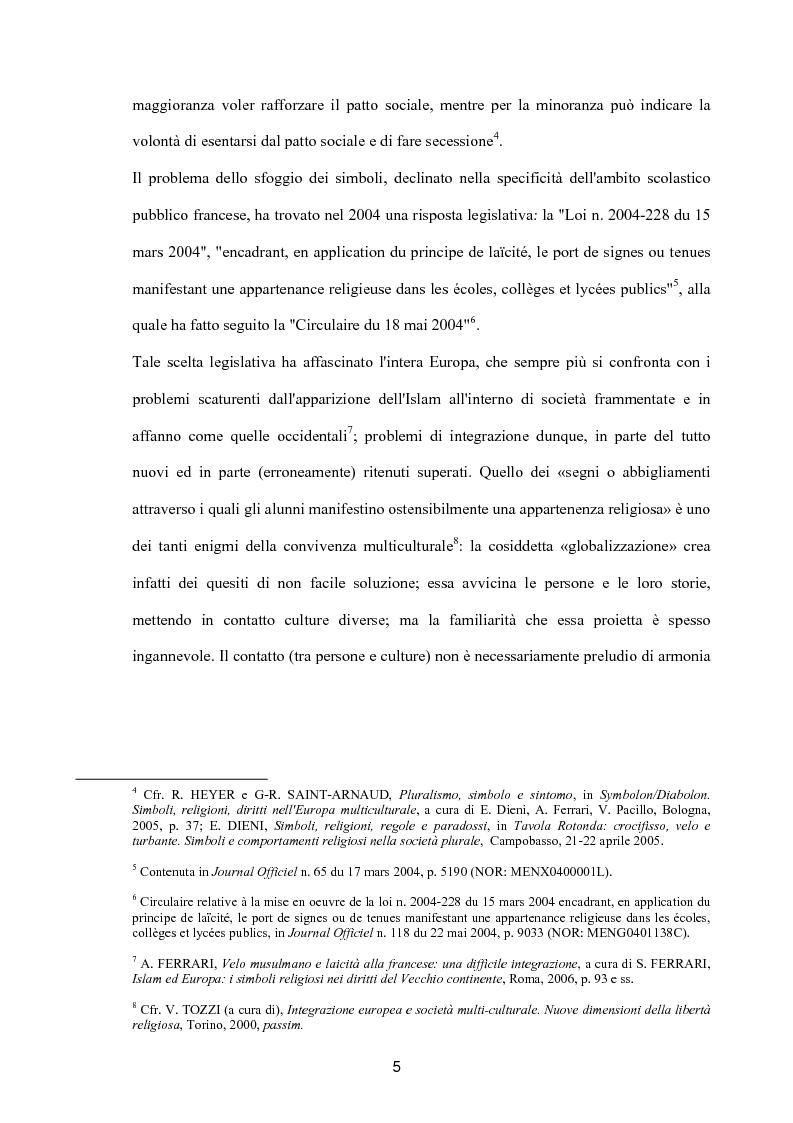 Anteprima della tesi: Simboli e religioni: l'esperienza francese, Pagina 2