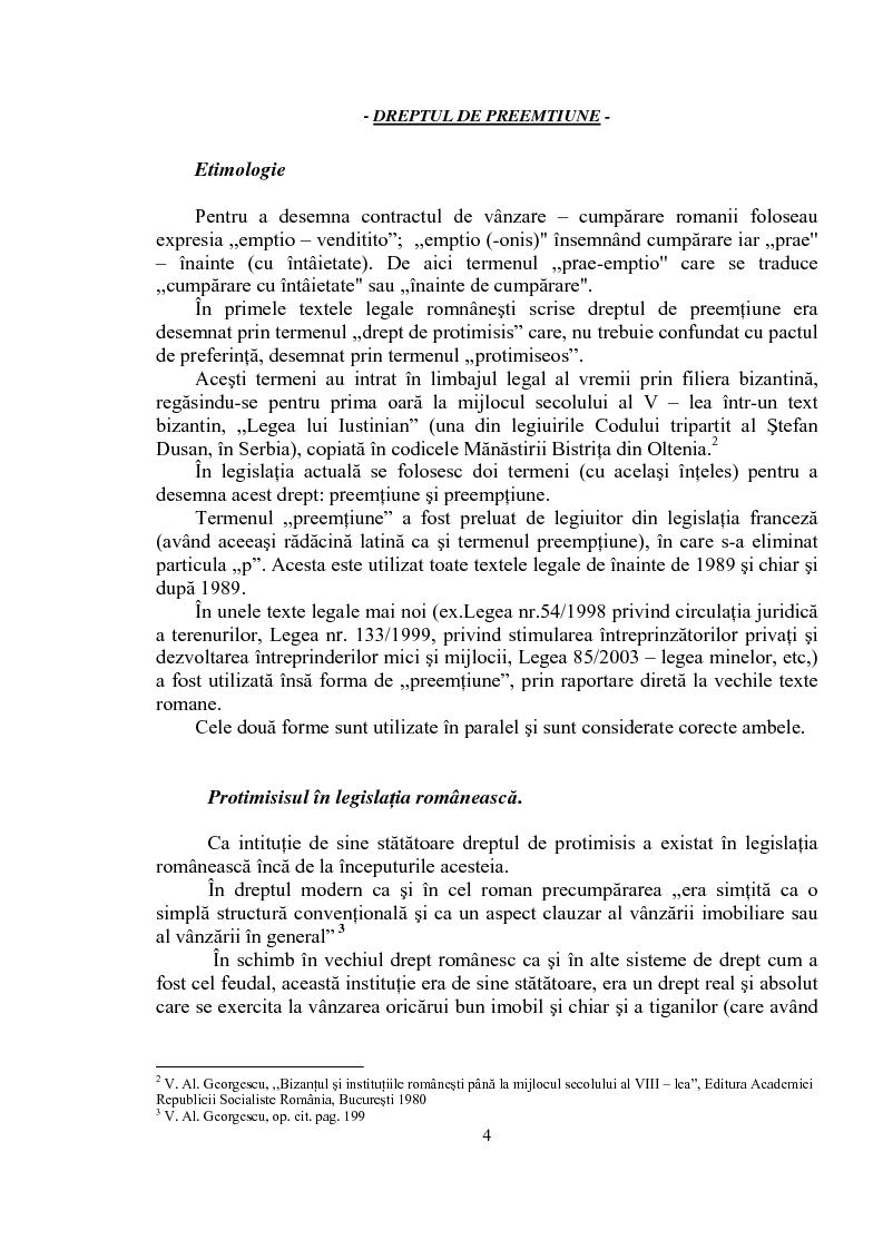 Anteprima della tesi: Dreptul de preemptiune, Pagina 2