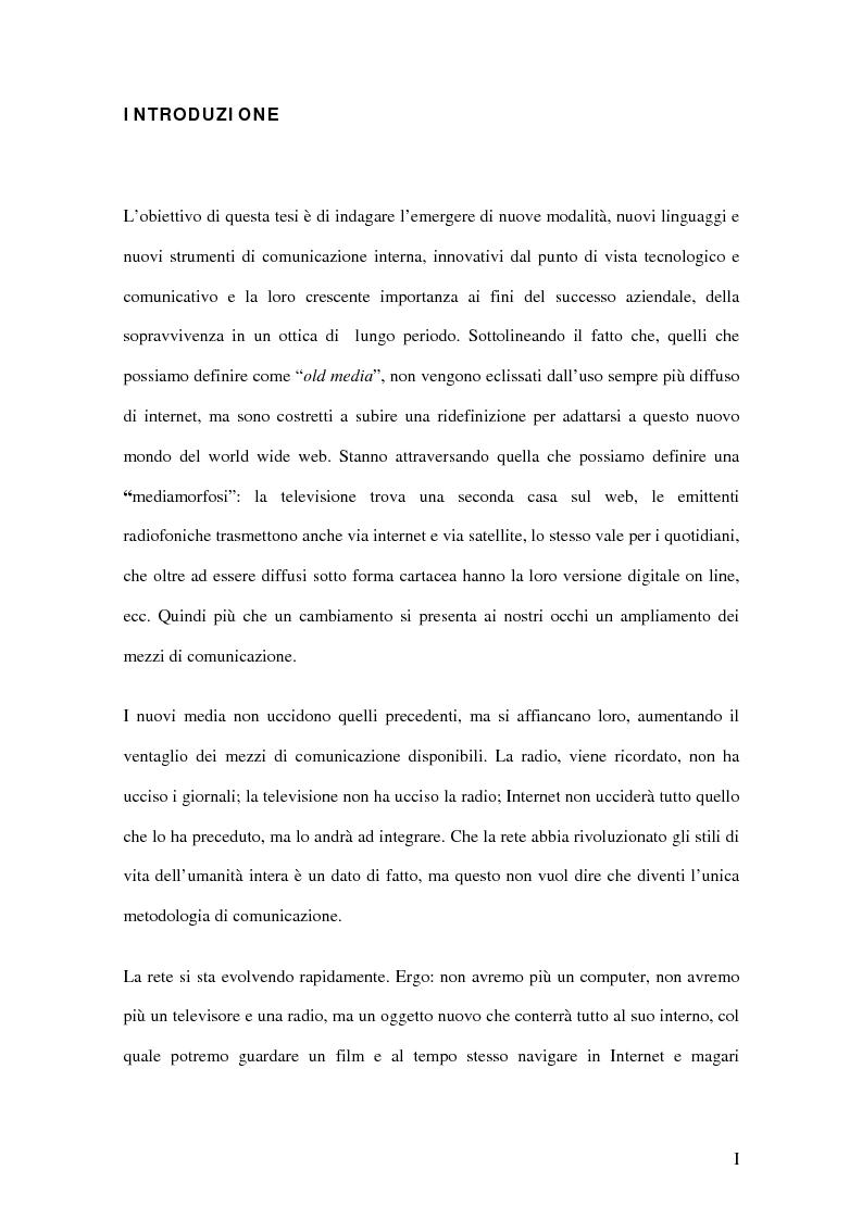 Comunicazione interna 2.0: i nuovi linguaggi della comunicazione organizzativa - Tesi di Laurea