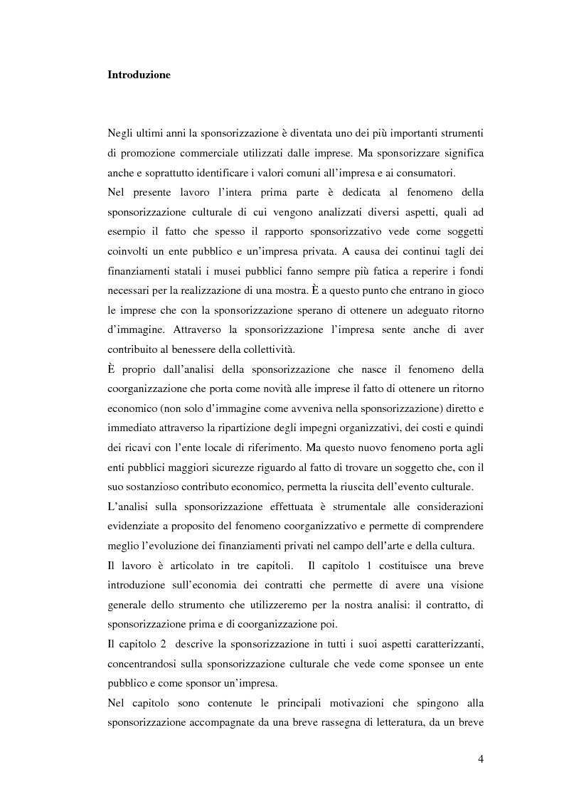 Anteprima della tesi: I contratti di coorganizzazione: un'analisi economica, Pagina 1