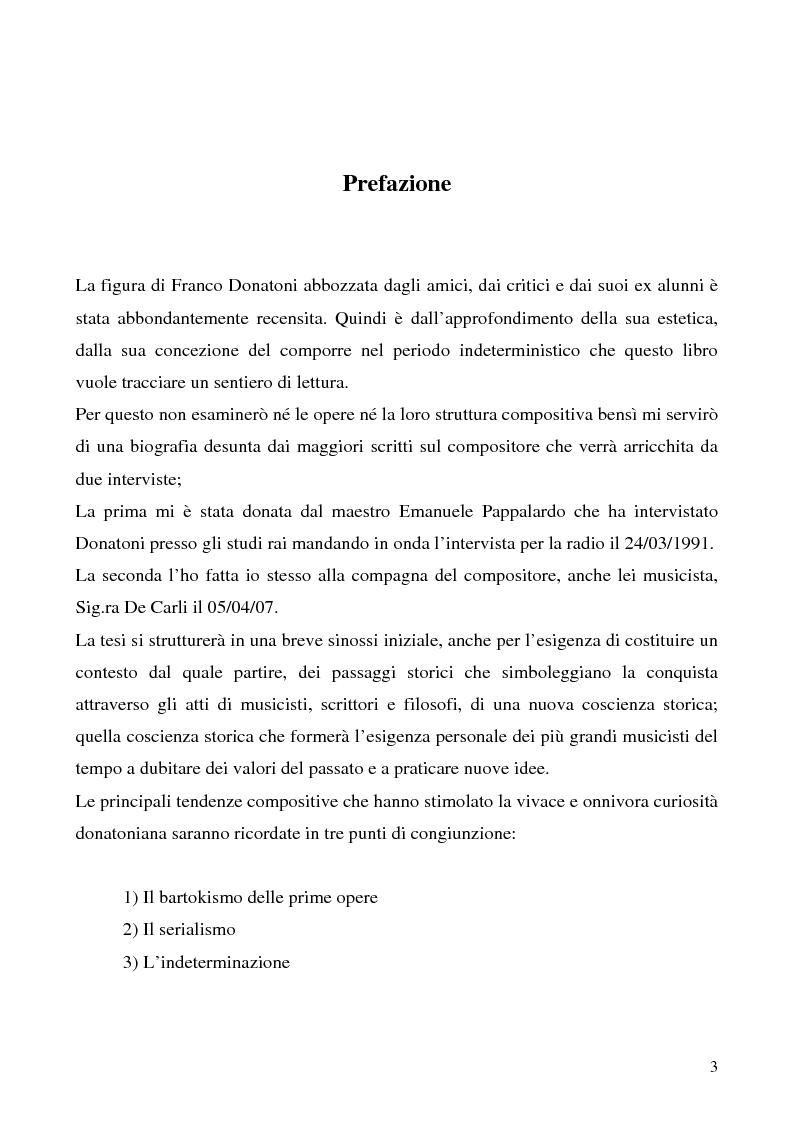 Anteprima della tesi: ''Questo'' di Franco Donatoni, ipotesi di lettura dell'indeterminazione, Pagina 1