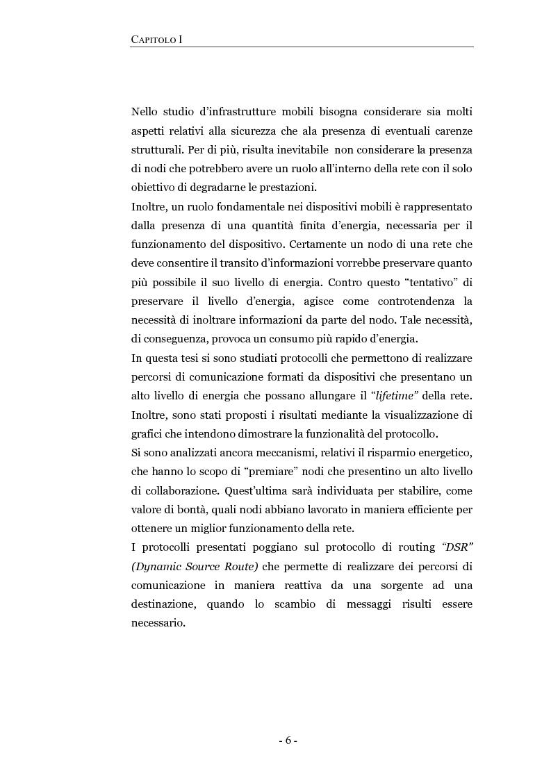 Anteprima della tesi: Progettazione e valutazione di un protocollo di trusting per reti manet, Pagina 2