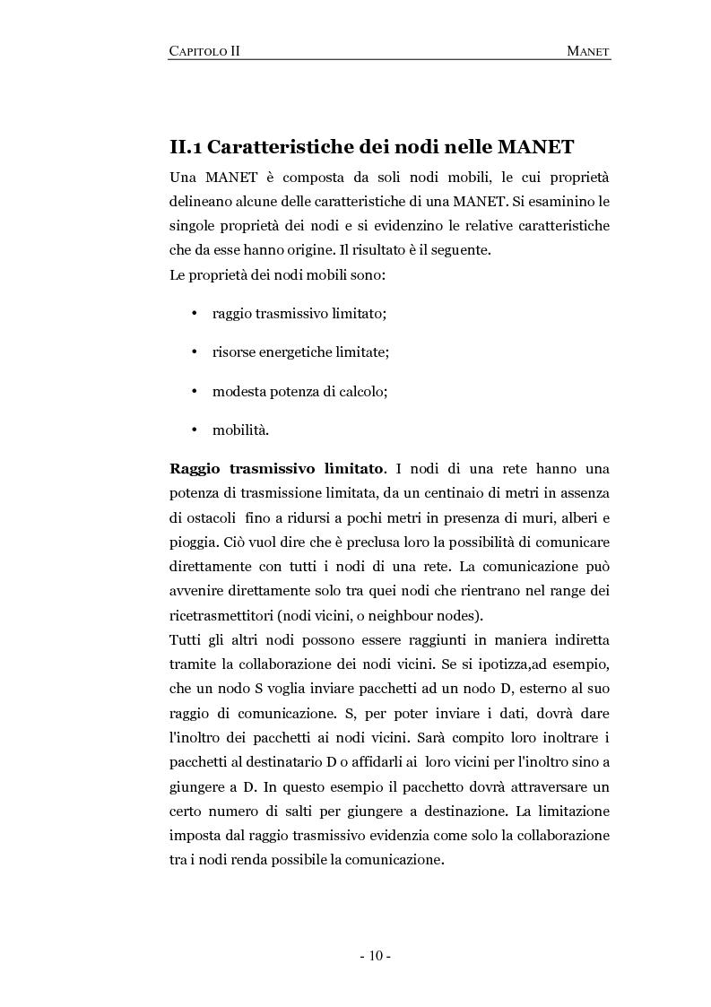 Anteprima della tesi: Progettazione e valutazione di un protocollo di trusting per reti manet, Pagina 6