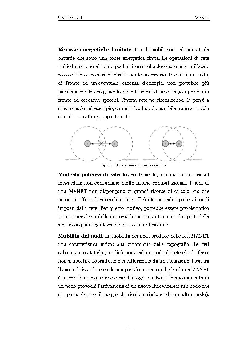 Anteprima della tesi: Progettazione e valutazione di un protocollo di trusting per reti manet, Pagina 7