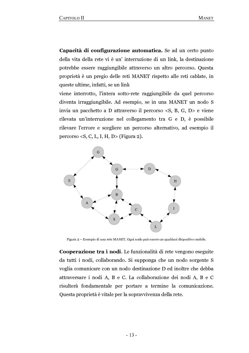 Anteprima della tesi: Progettazione e valutazione di un protocollo di trusting per reti manet, Pagina 9