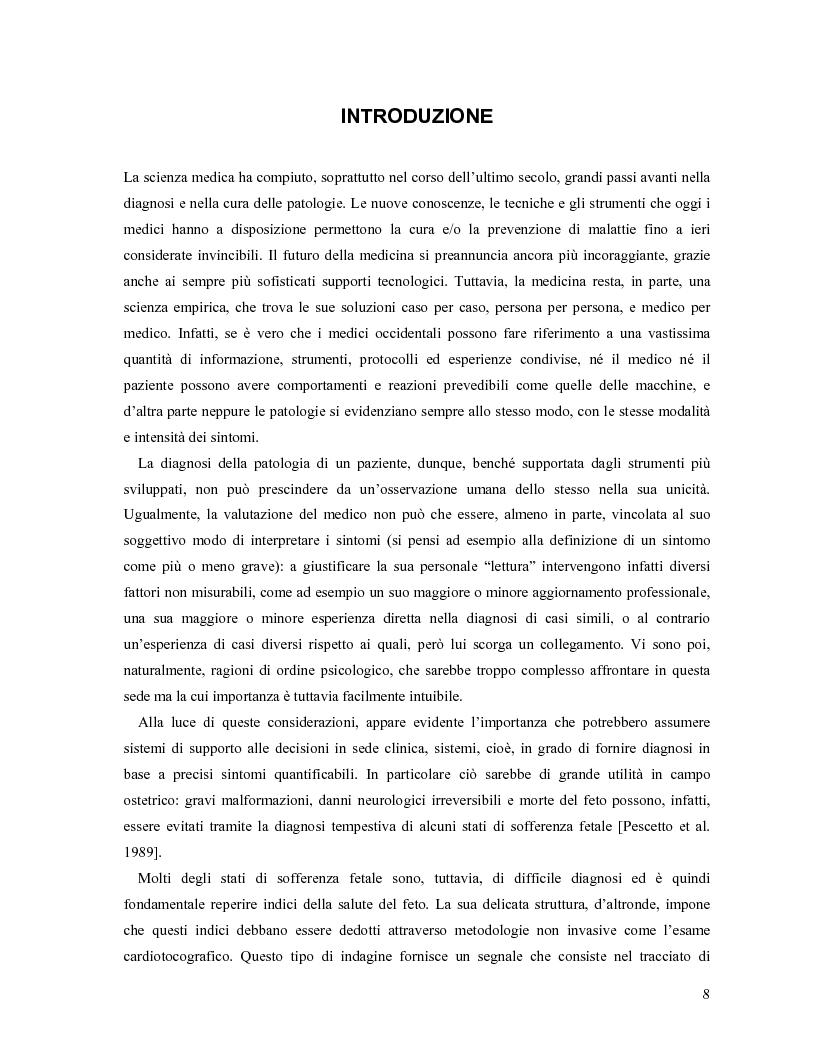 Anteprima della tesi: Progetto di sistemi fuzzy applicati alla classificazione di stati patologici fetali, Pagina 1