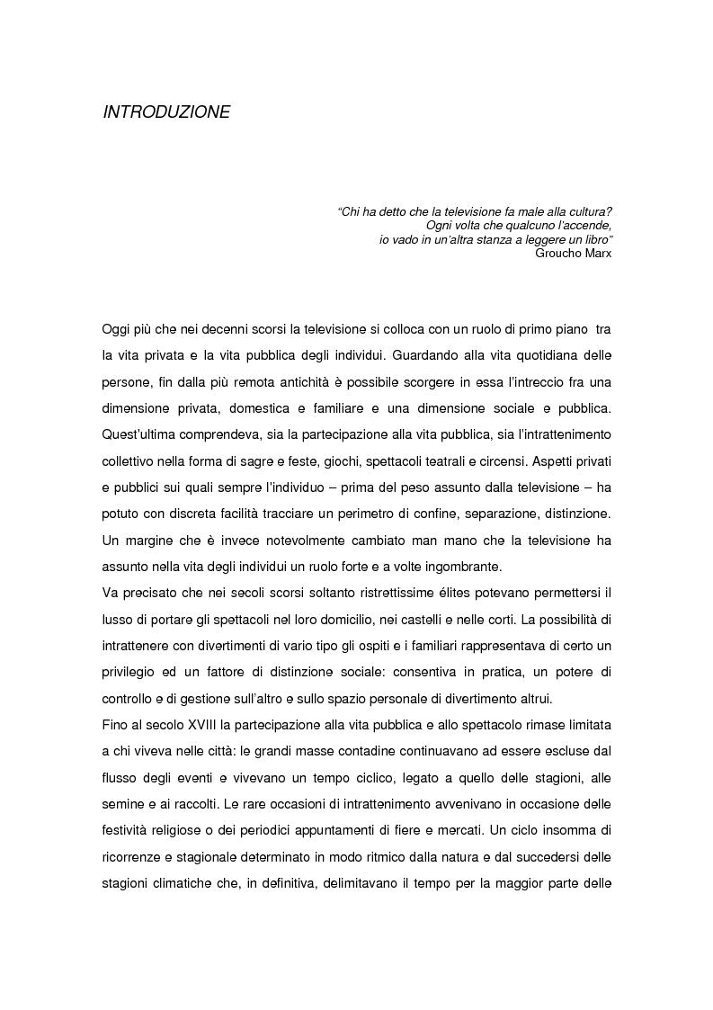La televisione italiana nel contesto europeo: il difficile processo di integrazione - Tesi di Laurea