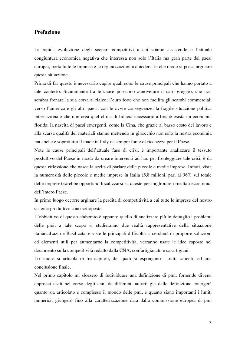 PMI forze locali capacità mondiali: un confronto tra due diverse realtà territoriali - Tesi di Laurea