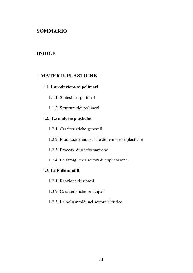 Indice della tesi: Analisi dello stampaggio ad iniezione industriale di manufatti polimerici: effetto delle condizioni di processo, Pagina 1