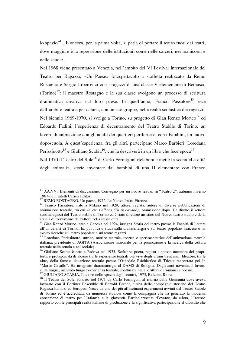 Anteprima della tesi: Il Festival Via Paal di Gallarate. Nuove prospettive per il teatro ragazzi., Pagina 6