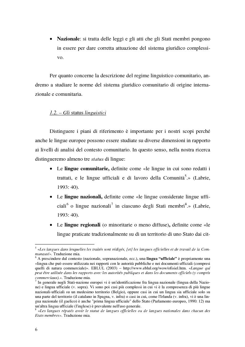 Anteprima della tesi: La relazione fra costi economici e costi politici del multilinguismo nell'Unione europea, Pagina 6