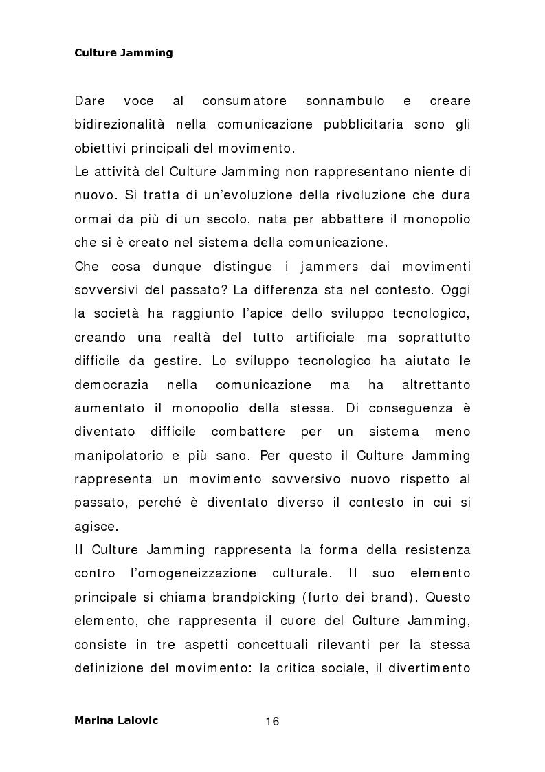 Anteprima della tesi: Culture Jamming, interferenza culturale per il consumatore globale, Pagina 8