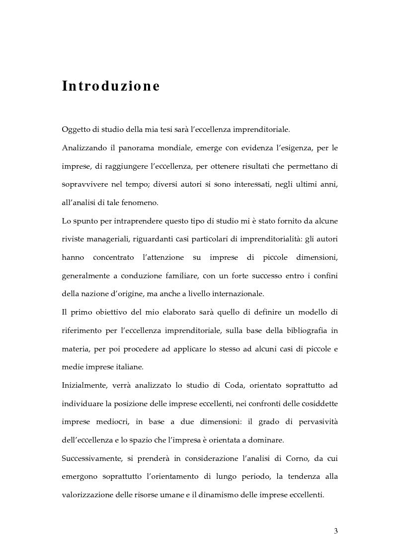 L'eccellenza imprenditoriale: quattro casi di Pmi italiane - Tesi di Laurea