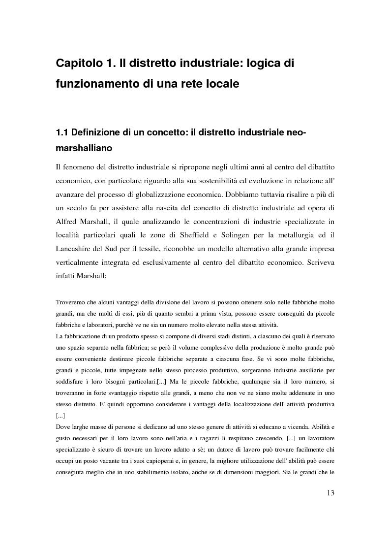 Anteprima della tesi: Strategie di internazionalizzazione di un'impresa leader distrettuale: verso la rete transnazionale. Il caso Lotto Sport Italia S.p.a., Pagina 10