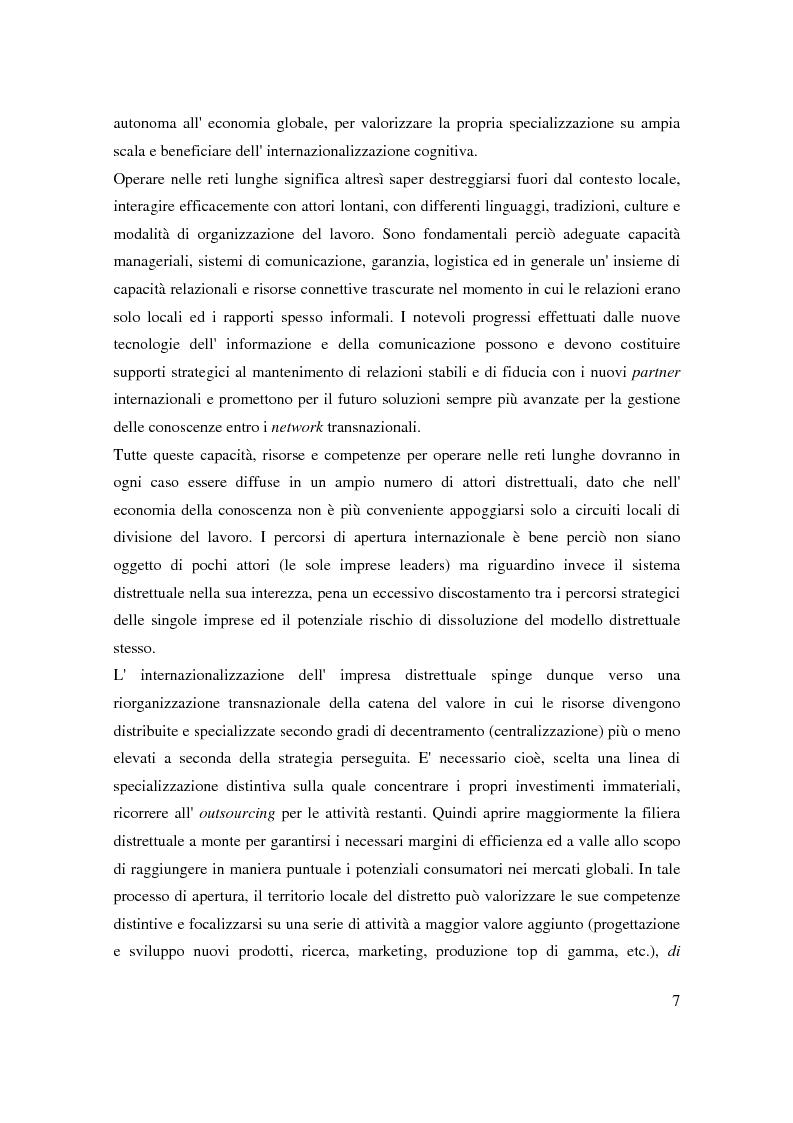 Anteprima della tesi: Strategie di internazionalizzazione di un'impresa leader distrettuale: verso la rete transnazionale. Il caso Lotto Sport Italia S.p.a., Pagina 4