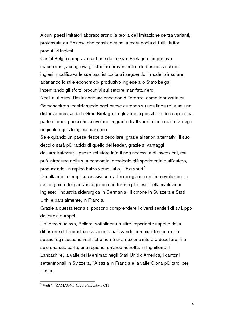 Anteprima della tesi: Il sentiero dello sviluppo industriale tedesco, Pagina 6