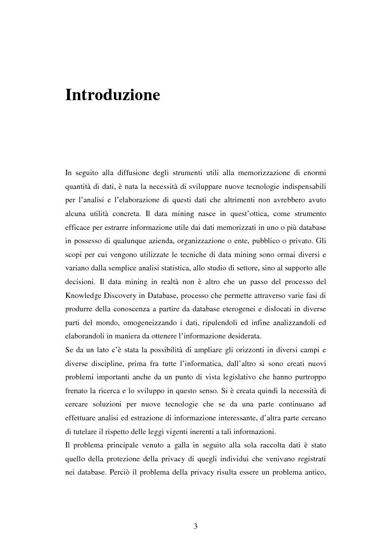Anteprima della tesi: Protezione della privacy e prevenzione della discriminazione nel data mining, Pagina 1