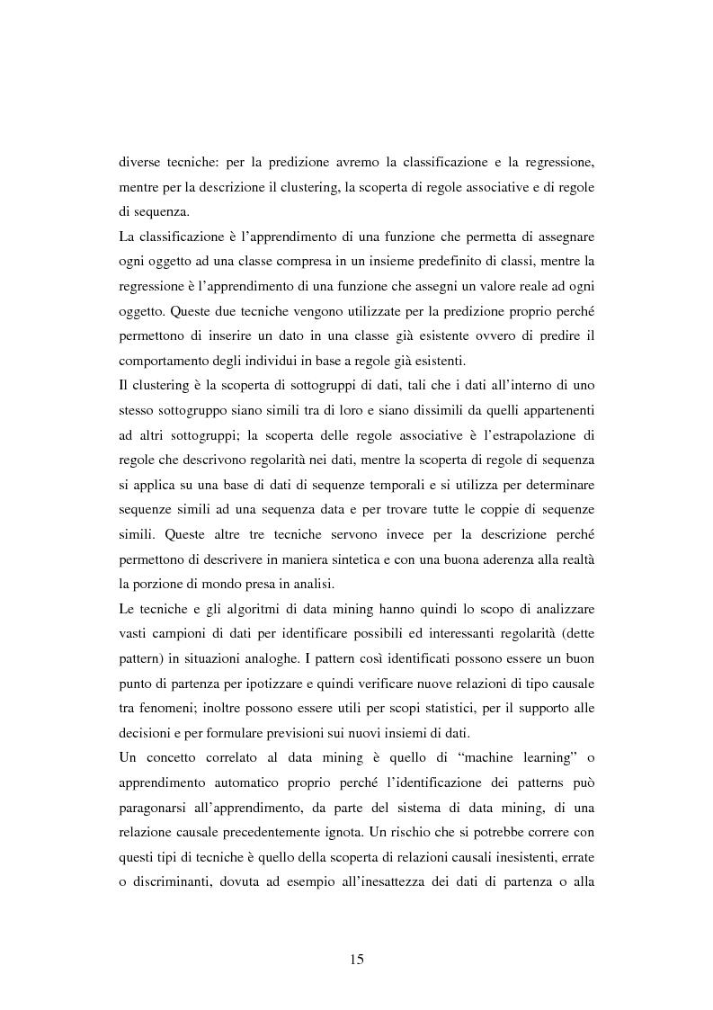Anteprima della tesi: Protezione della privacy e prevenzione della discriminazione nel data mining, Pagina 13