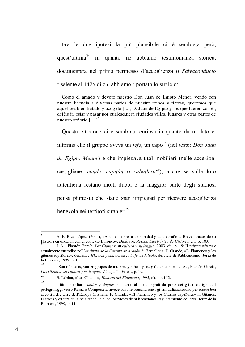 Estratto dalla tesi: Il lessico caló dei gitani e i testi di Camarón de la Isla