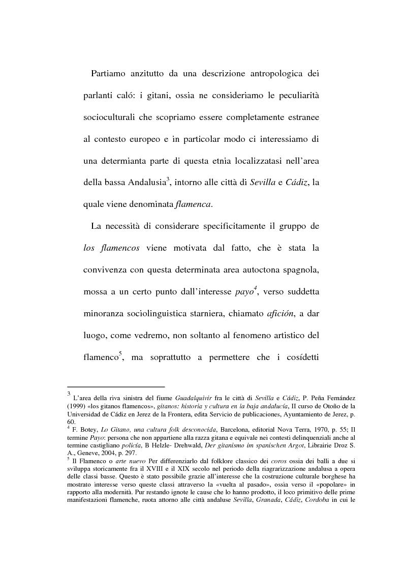 Anteprima della tesi: Il lessico caló dei gitani e i testi di Camarón de la Isla, Pagina 2