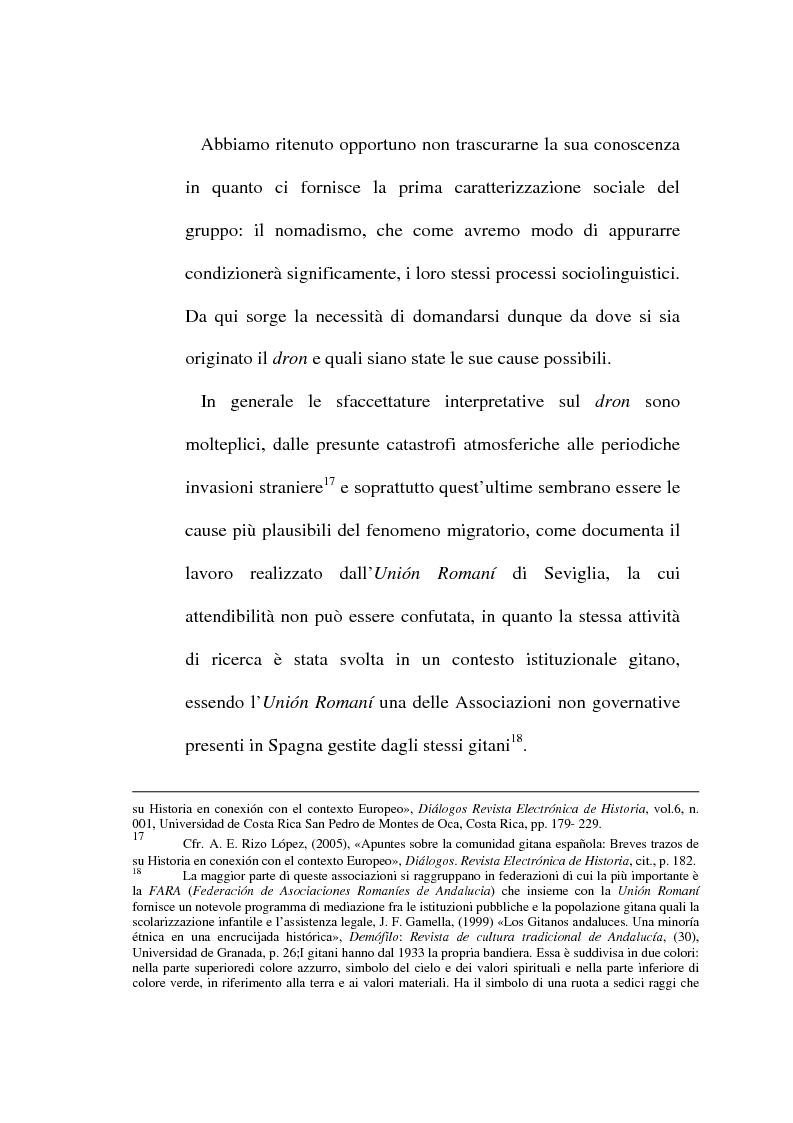 Anteprima della tesi: Il lessico caló dei gitani e i testi di Camarón de la Isla, Pagina 9