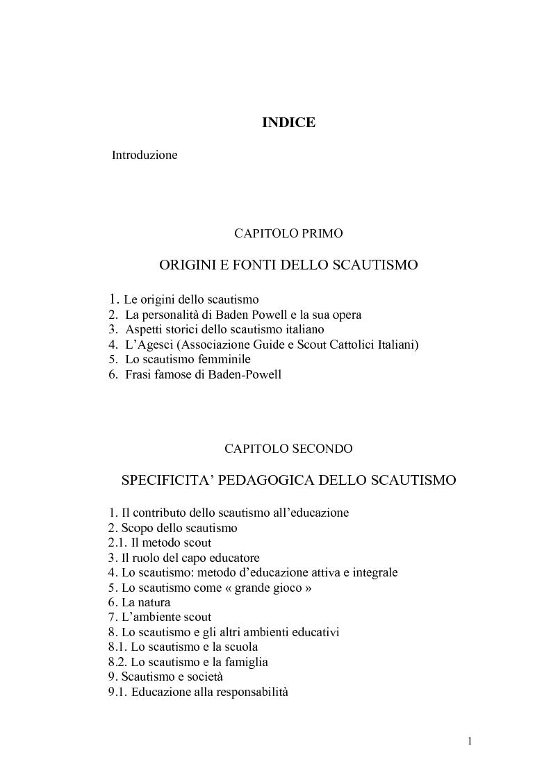 Piero Bertolini E Lo Scautismo Indice Pagina 1 Di 3