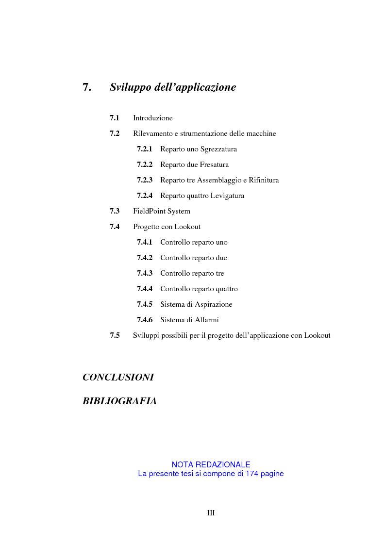 Indice della tesi: Sistemi per l'automazione di piccole aziende, Pagina 3