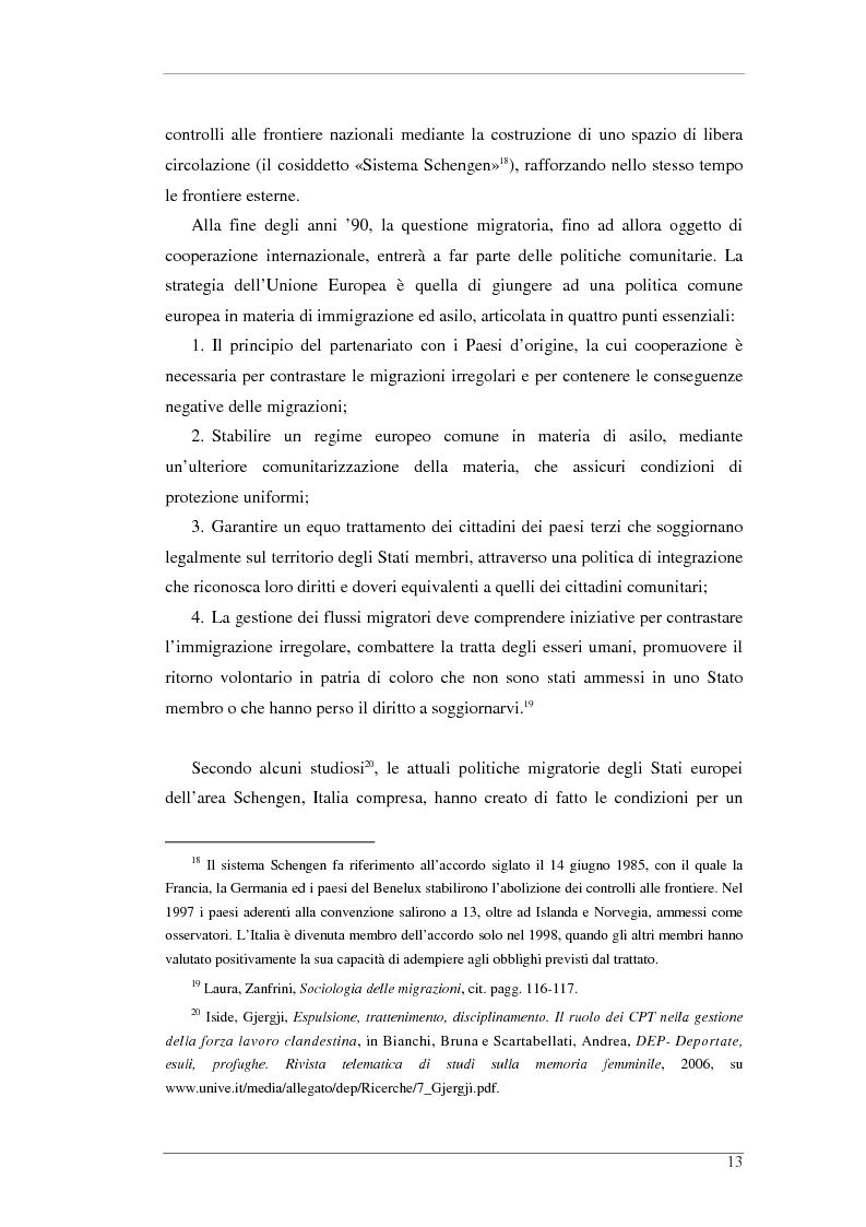Anteprima della tesi: L'isola e il confine. I CPTA in Sicilia e il controllo dell'immigrazione., Pagina 13
