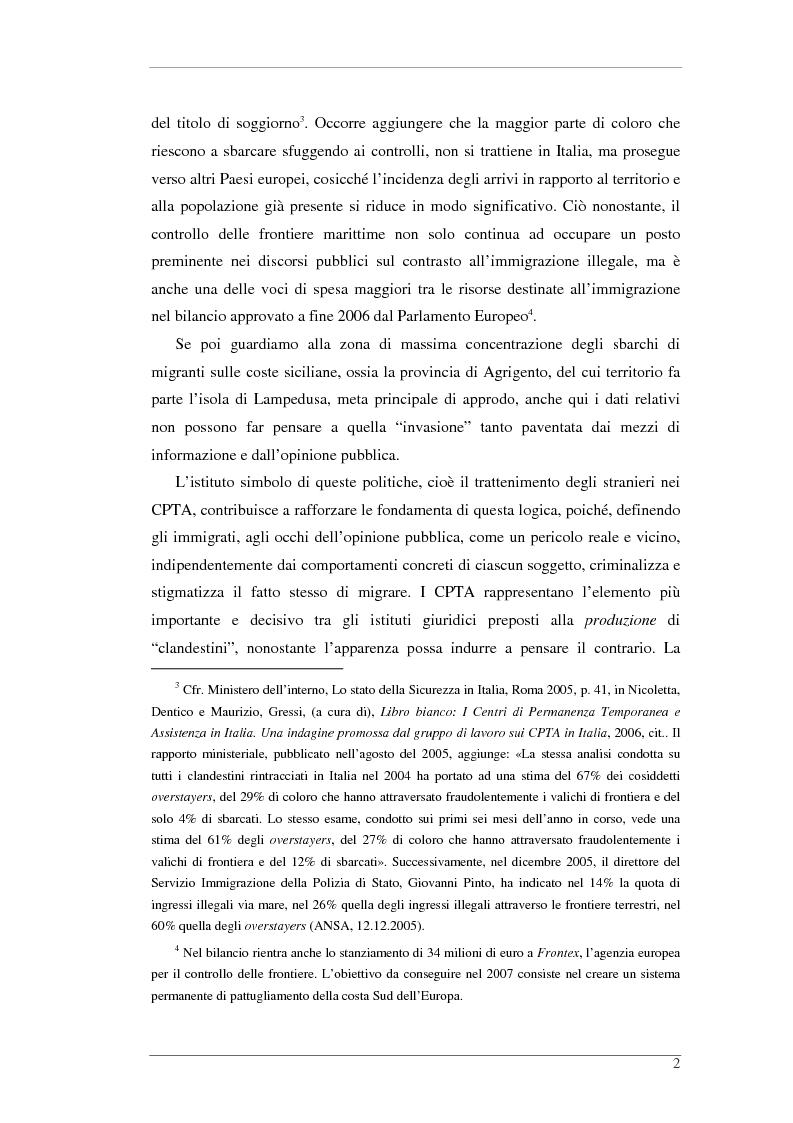 Anteprima della tesi: L'isola e il confine. I CPTA in Sicilia e il controllo dell'immigrazione., Pagina 2