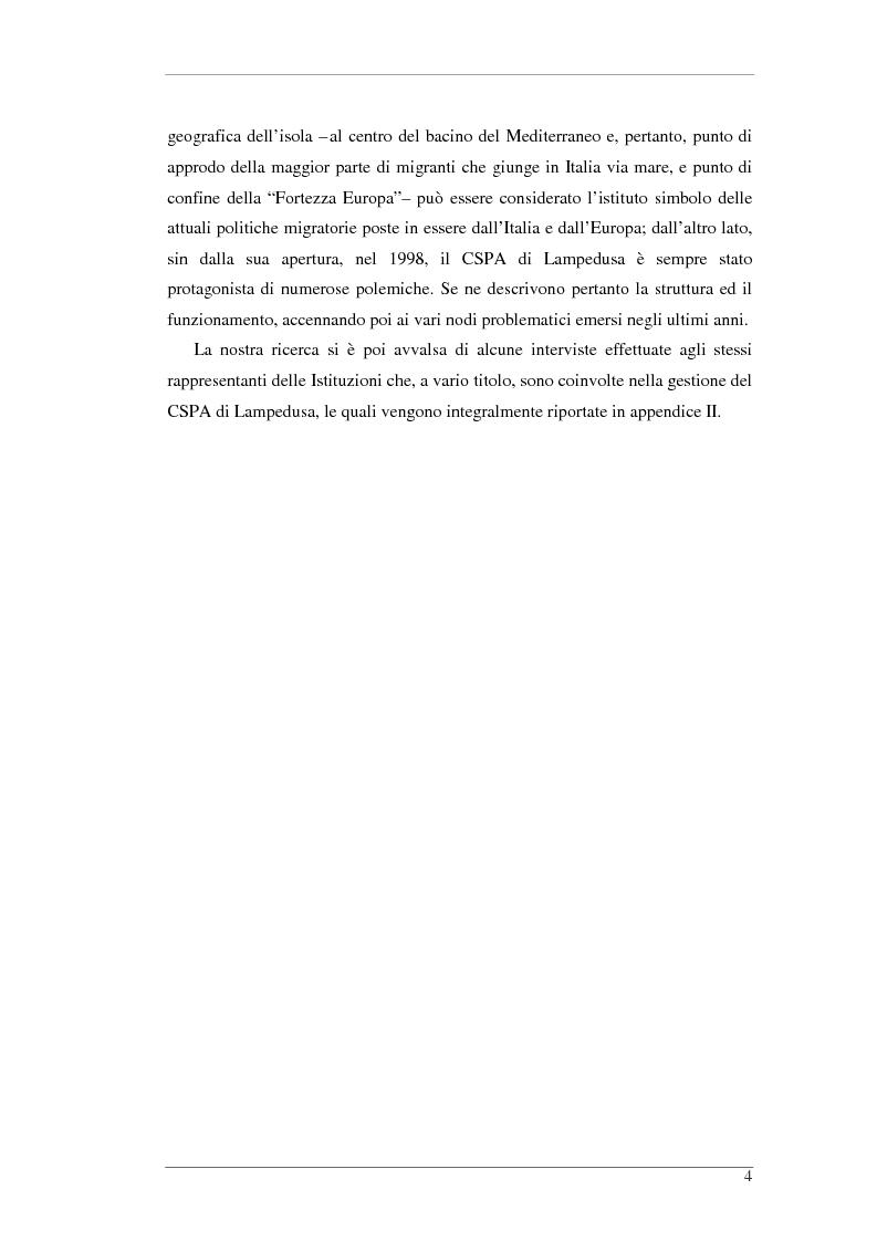 Anteprima della tesi: L'isola e il confine. I CPTA in Sicilia e il controllo dell'immigrazione., Pagina 4