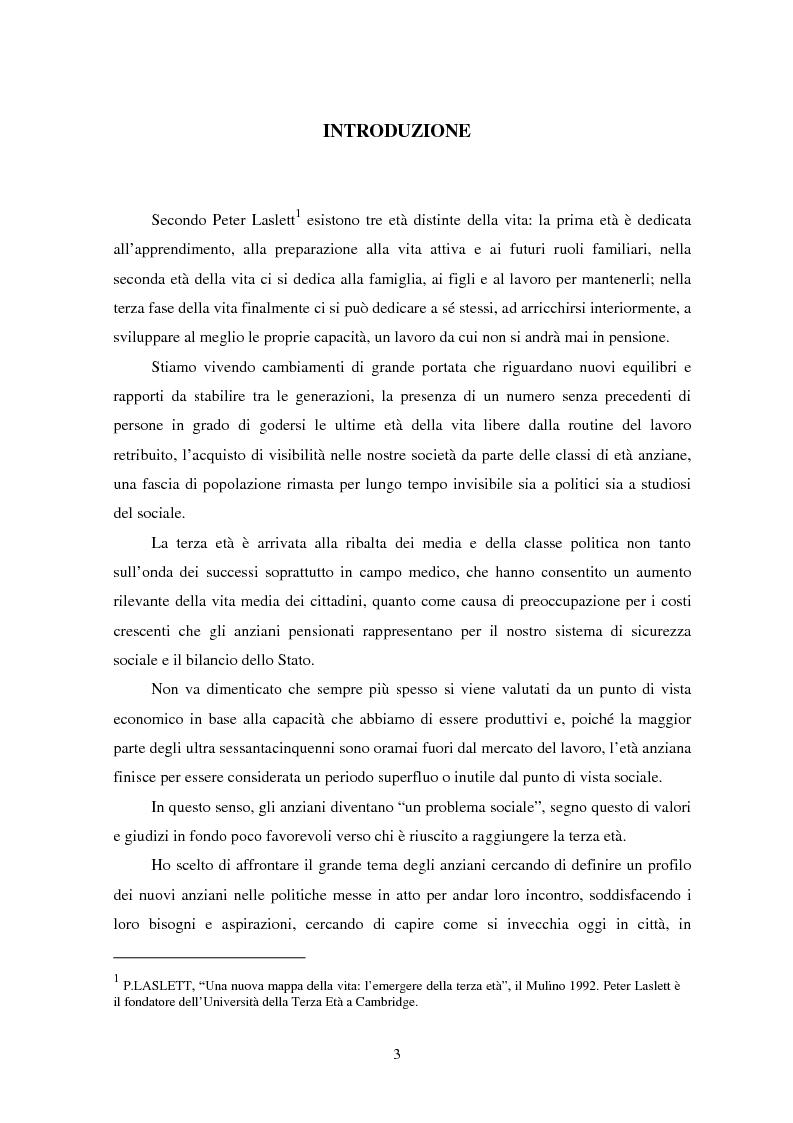 Anteprima della tesi: Invecchiare a Padova tra bisogni e servizi sociali, Pagina 1